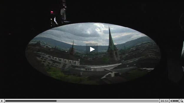An everyday view of Zurich, poetically captured in a walk-in Camera obscura
