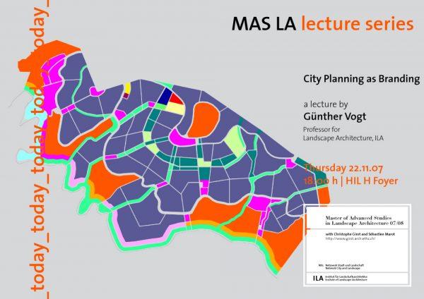 City planning as branding-Guenther Vogt-Landscape Architecture-ETH Zürich-Prof. Girot