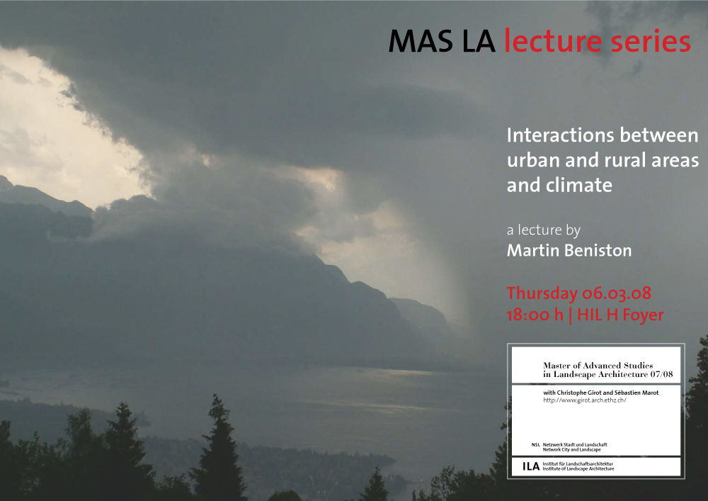 Interaction between urban and rural areas and climate-Martin Beniston-Landscape Architecture-ETH Zürich-Prof. Girot