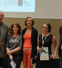 "Conference ""Thinking the Contemporary Landscape – Positions & Oppositions"", Hanover, Germany, 20-22 June 2013: Wilhelm Krull and Christophe Girot with the three awarded young researchers, Christiane Kania (University of Hanover), Nadine Schütz (ETH Zurich) and  Maider Uriarte (TU Munich)"