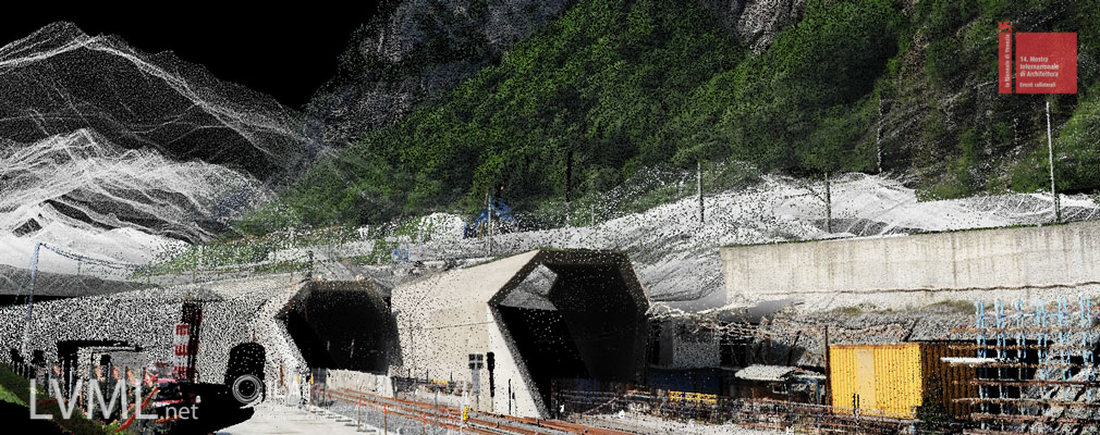 Point cloud model of the new AlpTransit high-speed train tunnel entrance in Bodio